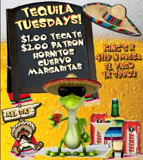 King's X Bar Tequila Tuesdays
